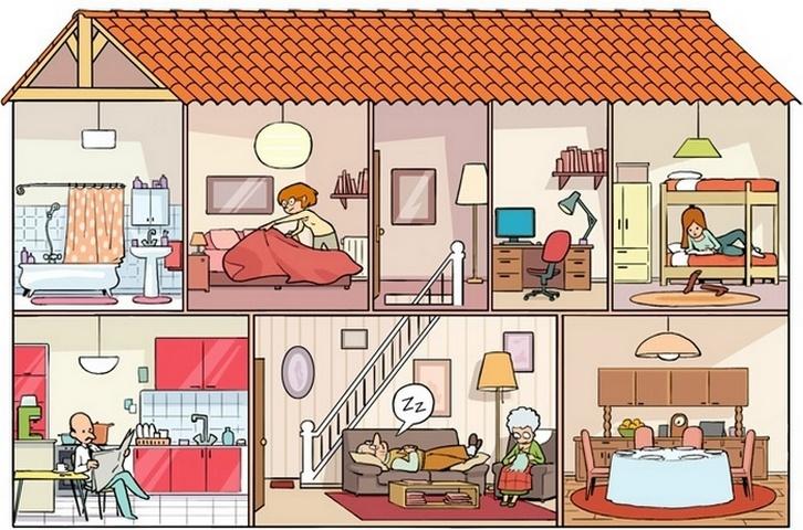 17. Les pièces de la maison